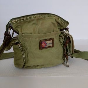 Fossil Canvas and Leather Handbag Cross body